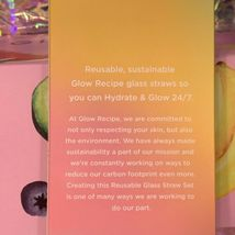 LIMITED EDITION NIB Glow Recipe Glass Straw Set Multi Color Four Reusable Straws image 3