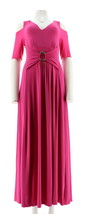 Liz Lange Cold-Shoulder Ultimate Maxi Dress Jersey Stretch Peony PM NEW ... - $558,99 MXN