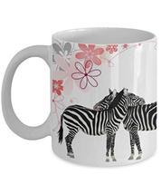 Creative Zebra Mom And Daughter Gift White Ceramic Coffee Mug 11oz - $19.75