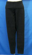 Winter Leggings Black Thick Fleece Type Tight Fit Stretch Pants Polyester Size M - $12.86