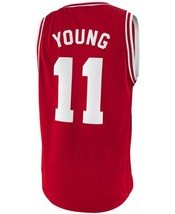 Trae Young College Custom Basketball Jersey Sewn Maroon Any Size image 2