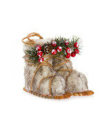 Darice Christmas Plush Boots Ornament: 4 x 5 x 6 inches w - $9.99