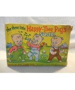 Vintage 1960's Castile Soap Three Little Happy Time Pigs Soap with Box U... - $11.95