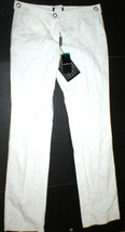 New Womens Designer Emporio Armani Cotton Pants 44 8 White Tall NWT Belt... - $386.00