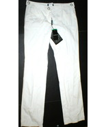 New Womens Designer Emporio Armani Cotton Pants 44 8 White Tall NWT Belt... - $965.00