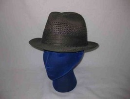 "Great Men's STETSON Fedora Green Hat 22 1/2"" - $67.54"