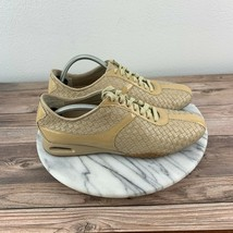 Cole Haan Air Bria Womens Size 7.5 Nude Woven Leather Lace Up Sneakers - $59.95