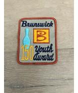Vintage BRUNSWICK Bowling Youth Award Patch 150 - $10.00
