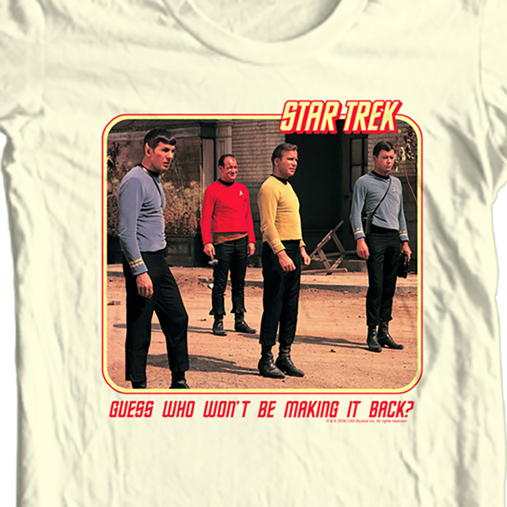 Star  trek red shirt t shirt mr spock original for sale online graphic tee