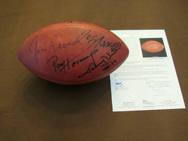 JOHNNY UNITAS JIM BROWN STAUBACH NAMATH HOF 7 SIGNED AUTO ROZELLE FOOTBA... - $1,484.99