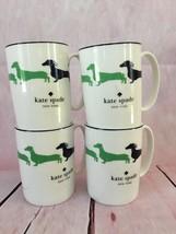 Kate Spade Nwt Set Of 4 Coffee Mugs Wickford Dachshund Lenox Dogs 10 Oz - $80.00