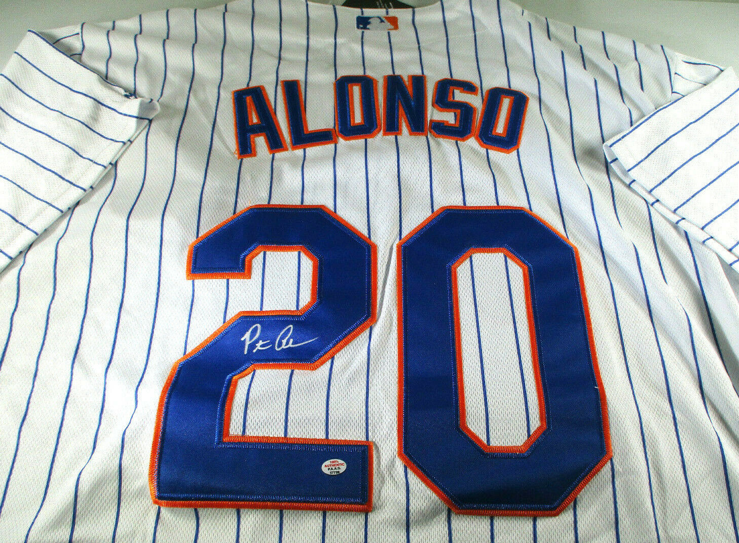PETE ALONSO / NEW YORK METS / AUTOGRAPHED METS PRO STYLE BASEBALL JERSEY / COA