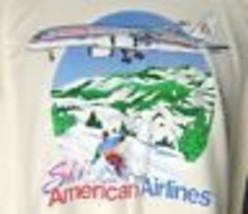 Ski American Fluggesellschaften Grafik T-Shirt XXL Jackson Loch Breckinridge - $26.59