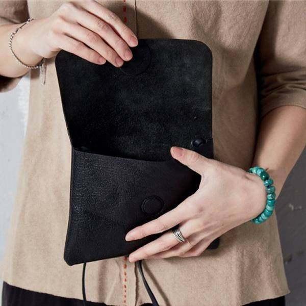 On Sale, Handmade Crossbody Bag, Full Grain Leather Shoulder Bag, Women Clutch image 6