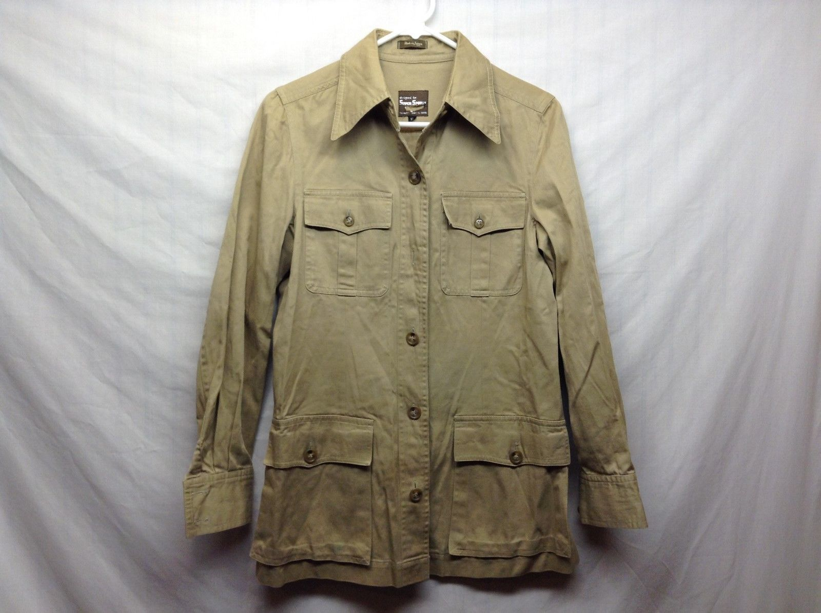 Super Sports Light Green Safari Shirt Sz 12