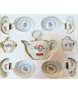 Little Debbie Porcelain Tea Set Collectible Heirloom Edition 1997 Twelve... - $25.74