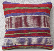 12'' X 12'' Hand Made Turkish Kilim Pillow Cover, Kelim Cushion Made in ... - $18.71