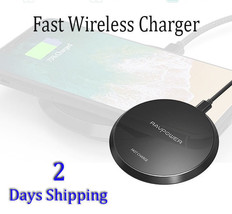 Fast Wireless Charger RAVPower Qi Certified Quick Charging Pad best + sa... - $21.97