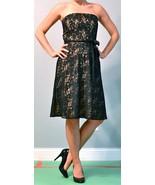 Ann Taylor Loft Nude Strapless Dress w Black Lace Overlay Size 2 - $38.00