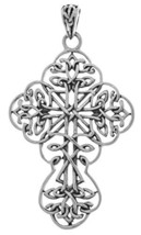 Jewelry Trends Sterling Silver Large Filigree Celtic Cross Pendant - $33.99