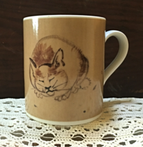 Vintage Cat With Mouse Artsy Coffee Mug Pottery Mug Made in Japan - $8.00