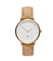 MVMT Women's Signature II Champagne Gold Plated Beige Leather Bracelet Watch - $99.95