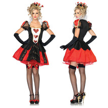 Alice in Wonderland Queen of Hearts Fancy Dress Cosplay Costume - $34.68