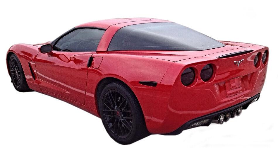 2005-2013 Corvette C6 vinyl smoked overlay kit tints tail lights (9 piece kit) - $27.22