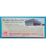 DALLAS Texas Machinery Sales & Supply Co Saws Tools Motors - 1930s INK B... - $7.40