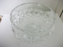 WATERFORD MILLENNIUM CRYSTAL CUT LARGE GLASS PEDESTAL BOWL SIGNED BEAUTIFUL - $79.99