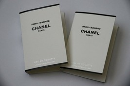 2 x Chanel Les Eaux Paris - Biarritz Eau de Toilette Samples Spray EDT Lot Set - $9.85