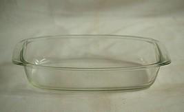 Vntage Pyr-O-Rey Dynaware Clear Glass Casserole Pan Baking Dish Glasswar... - $24.74