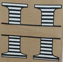 Kate Winston Brand Brown Burlap Monogram Black White H Garden Flag image 3