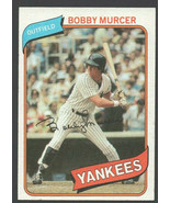New York Yankees Bobby Murcer 1980 Topps Baseball Card 365 nr mt - $0.99