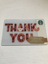 Starbucks Gift Card - NEW - THANK YOU 2017 - RED AND GOLD - $1.50