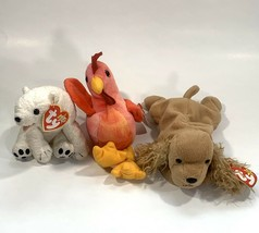 TY Beanie Babies Set of 3 Strut, Aurora and Spunky with Tags - $17.23