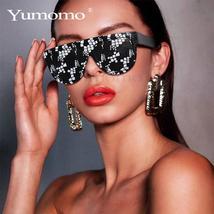 Sexy square sunglasses ladies fashion python pattern oversized sunglasses men an