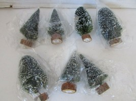 Dept 56 52027 Frosted Topiary Trees Set Of 8 Pcs Nib Village Accessory - $9.75