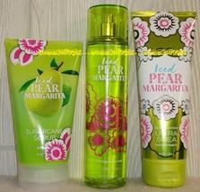 ICED PEAR MARGARITA Bath Body Works Fragrance Mist Body Cream Sugarcane ... - £23.99 GBP