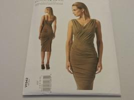 Vogue Sewing Pattern V1342 Donna Karan Collection Bodycon Dress Misses 4... - $12.99
