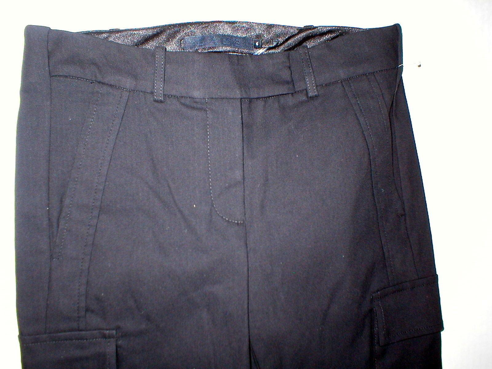 New Womens Designer NWT LAMB Gwen Stefani Cargo Pants Stretch Skinny 6 Black image 4