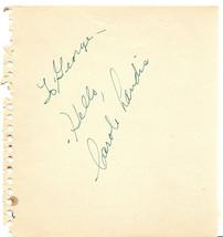 Carole Landis 1930's Vintage Autographed Hand Signed Paper Cut Signature... - $179.99
