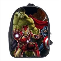 School bag hulk iron man catpain america avengers 3 sizes - $38.00+
