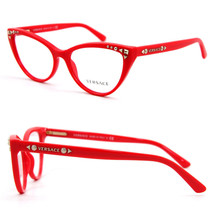 Versace Mod VE3191 5112 Orange Eyeglasses Frame 52-16-140 Italy Big Cat ... - $128.06