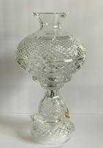 "Vintage Waterford Crystal 19"" Hurricane Electrical Table Lamp - $396.00"