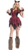 Sexy Party King Werewolf Red Plaid Dress Costume PK163 ~ SALE - $62.99