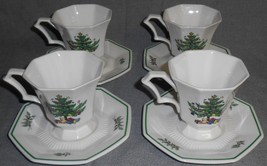 Set (4) Nikko Christmastime Pattern Cups And Saucers Made In Japan - $39.59