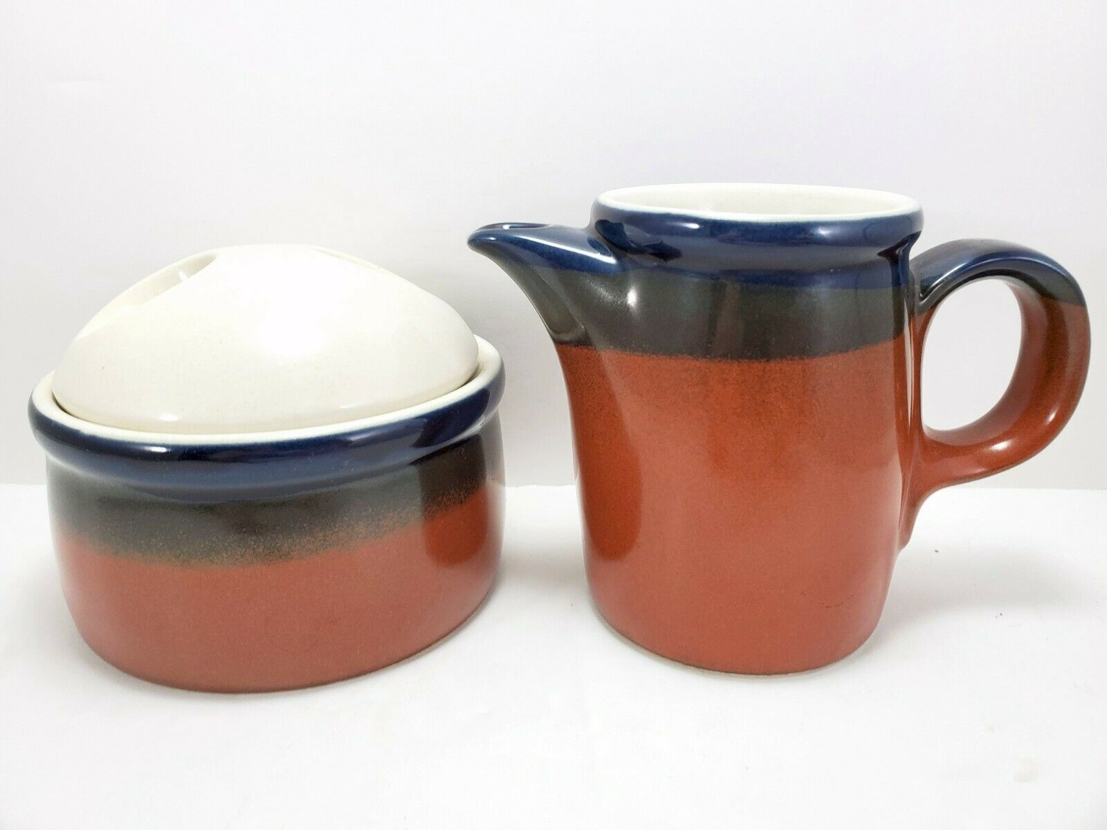 Primary image for Mikasa Fire Song Creamer and Covered Sugar Bowl Stoneware Potters Art PF003