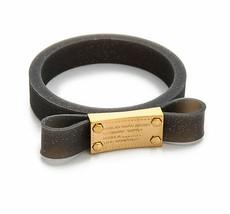 Marc Jacobs Bracelet Jelly Bow Bangle Black NEW - $47.52