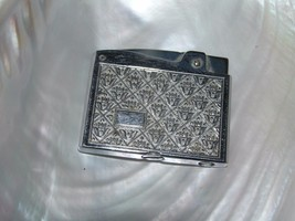 Vintage Continental Japan Marked Crown & Leaves Etched Silvertone Metal ... - $12.19